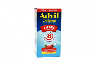Advil Children Caja Con Frasco Con 100 mL – Sabor Frutas