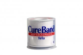 """Esparadrapo De Tela Cureband 2"""" X 5 yd Empaque Con 1 Unidad"""