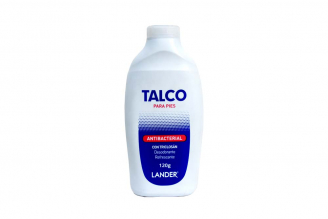 Talco Para Pies Antibacterial Lander Frasco Con 120 g