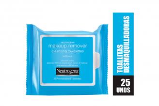 Toallitas Desmaquilladoras Neutrogena Makeup Remover Empaque Con 25 Unidades