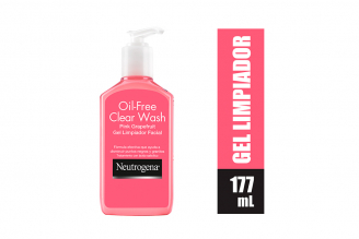 Gel Limpiador Facial Neutrógena Oil Free Frasco Con 177 mL