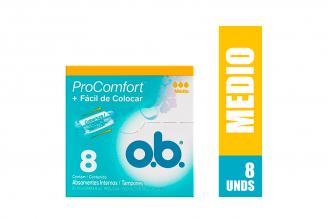 Tampones O.B. Siempre Libre Caja Con 8 Unidades