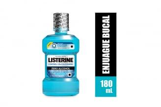 Enjuague Bucal Listerine Zero Alcohol Frasco Con 180 mL – Sabor Menta Suave