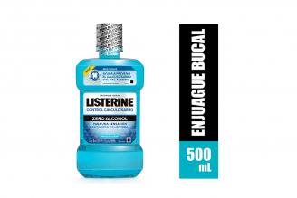 Listerine Control Calculo Zero Alcohol Frasco Con 500 mL