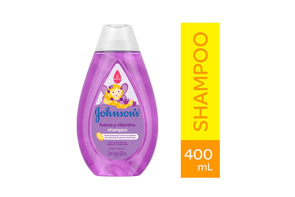 Shampoo Johnson's Baby Fuerza y Vitamina Frasco Con 400 ml