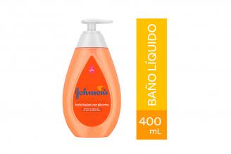 Baño Líquido Johnson's Baby Con Glicerina Frasco Con 400 mL