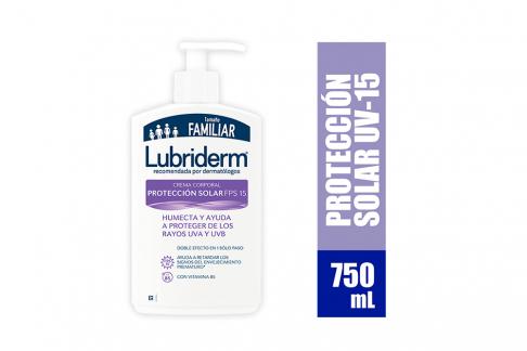 Lubriderm Loción UV Válvula Frasco Con 750 mL