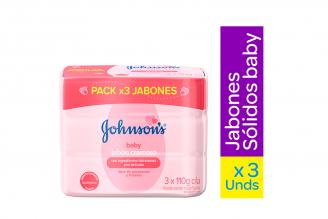Jabón Cremoso Johnson's Baby Humectante Empaque Con 3 Barras Con 110 g C/U