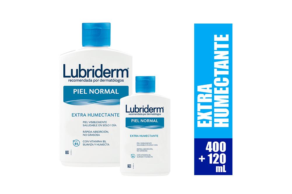 Lubriderm Crema Humectante Diaria Frasco Con 400 mL + 120 mL