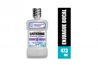Enjuague Bucal Listerine Whitening Extreme Frasco Con 473 mL – Sonrisa Más Blanca