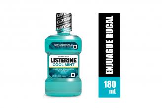 Enjuague Bucal Listerine Cool Mint Frasco Con 180 mL