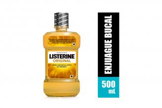 Enjuague Bucal Listerine Solución Frasco Con 500 mL