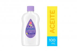 Aceite Johnson's Baby Para Antes De Dormir Frasco Con 100 mL