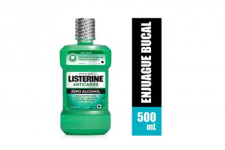 Listerine Zero Anticaries Frasco Con 500 mL