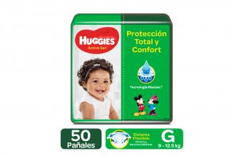 Pañales Huggies Active Sec Etapa 3 / G Paca Con 50 Unidades