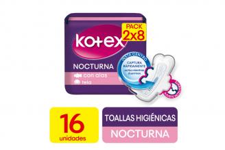 Toallas Kotex Nocturna Empaque Con 16 Unidades - Promo Pack