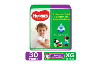 Pants Huggies Ajuste Perfecto Etapa 4 / XG Paca Con 30 Unidades