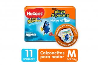Pañales para el Agua Huggies Little Swimmers Etapa 2 / M  Paca Con 11 Unidades