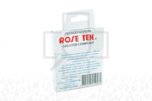 Preservativos Rosetex Caja x 3 Unidades
