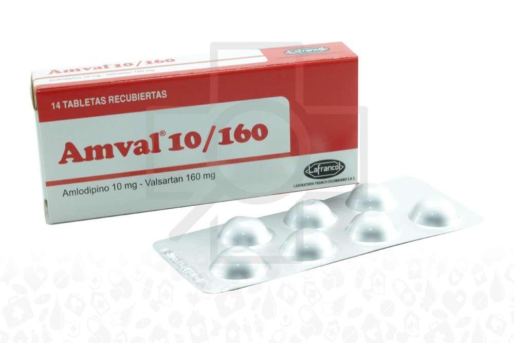 Amval 10 / 160 mg Caja Con 14 Tabletas Rx