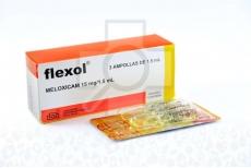 Flexol Meloxicam Solución Inyectable 15 mg / 1.5 mL Caja Con 3 Ampollas Rx
