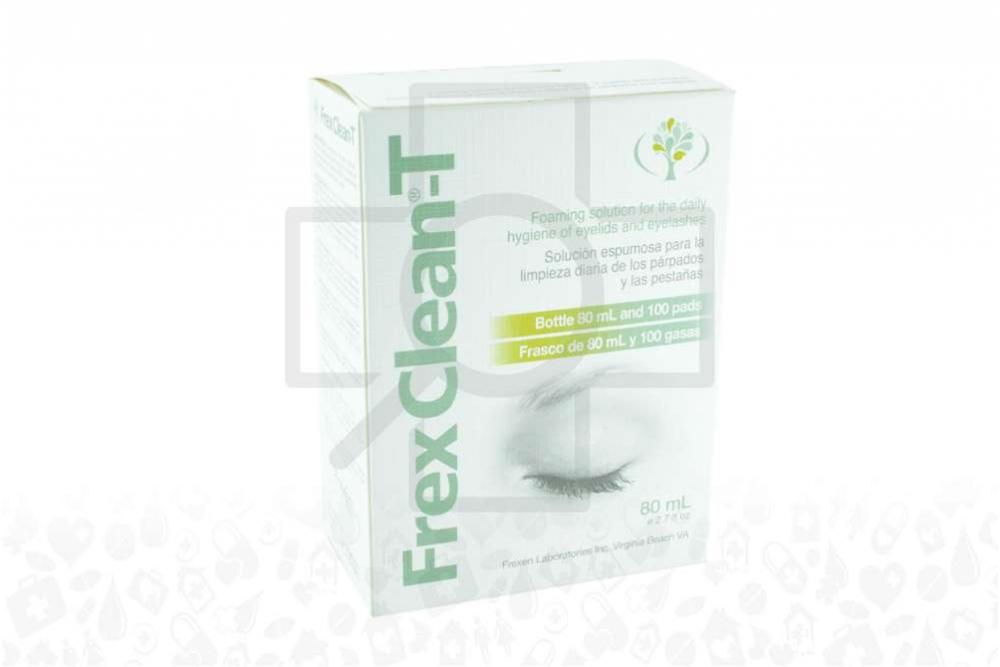 Frex Clean T Solución Espumosa Caja Con Frasco Con 80 mL + 100 Gasas