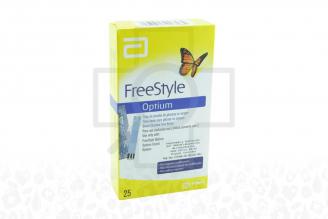 FreeStyle Optium Caja Con 25 Tiras De Prueba Para Glucómetro