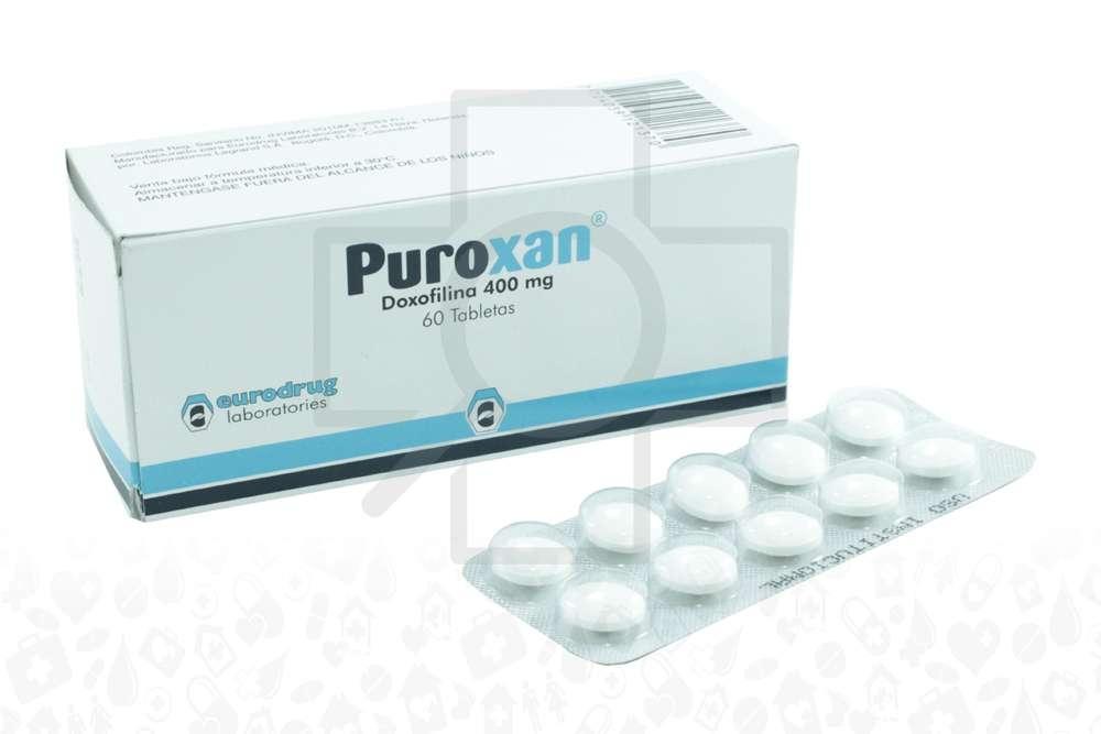 Puroxan 400 mg Caja Con 60 Tabletas Rx