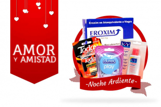 Kit Amor Y Amistad Bolsa Con 3 Condones Today + Anillo Vibrador DUO + Eroxim + Gel KY Warming