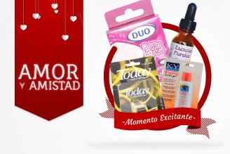 Kit Amor Y Amistad Bolsa Con 3 Condones Today + G Vibrator DUO + Multi Gel Lubricante + Lubricante K –Y Warming