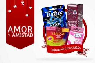 Kit Amor Y Amistad Bolsa Con 3 Condones Today + G Vibrator DUO + Multi Gel Lubricante + Esencia Floral