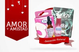 Kit Amor Y Amistad Bolsa Con Condones + Esencia Florales