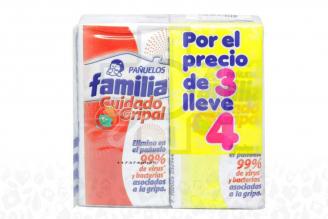 PAÑUELOS FAMILIA X 4 UNIDADES - CUIDADO GRIPAL