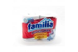 PAPEL FAMILIA ACOLCHAMAX - 4 ROLLOS - MÁS SUAVE