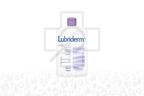 Crema Lubriderm Con Protección Solar Frasco Con 750 mL