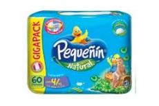 Etapa 4 XG Pañal Pequeñín Natural Paca Con 60 Unidades