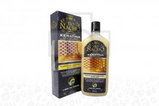 Shampoo Tío Nacho Keratina Caja Con Frasco Con 415 mL