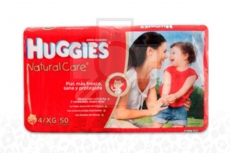 PAÑAL HUGGIES NATURAL CARE ETAPA 4 - XG  PACA X 50 UNIDADES