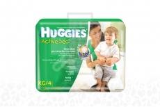 Huggies Active Sec Bolsa Con 50 Pañales – Etapa 4 / XG