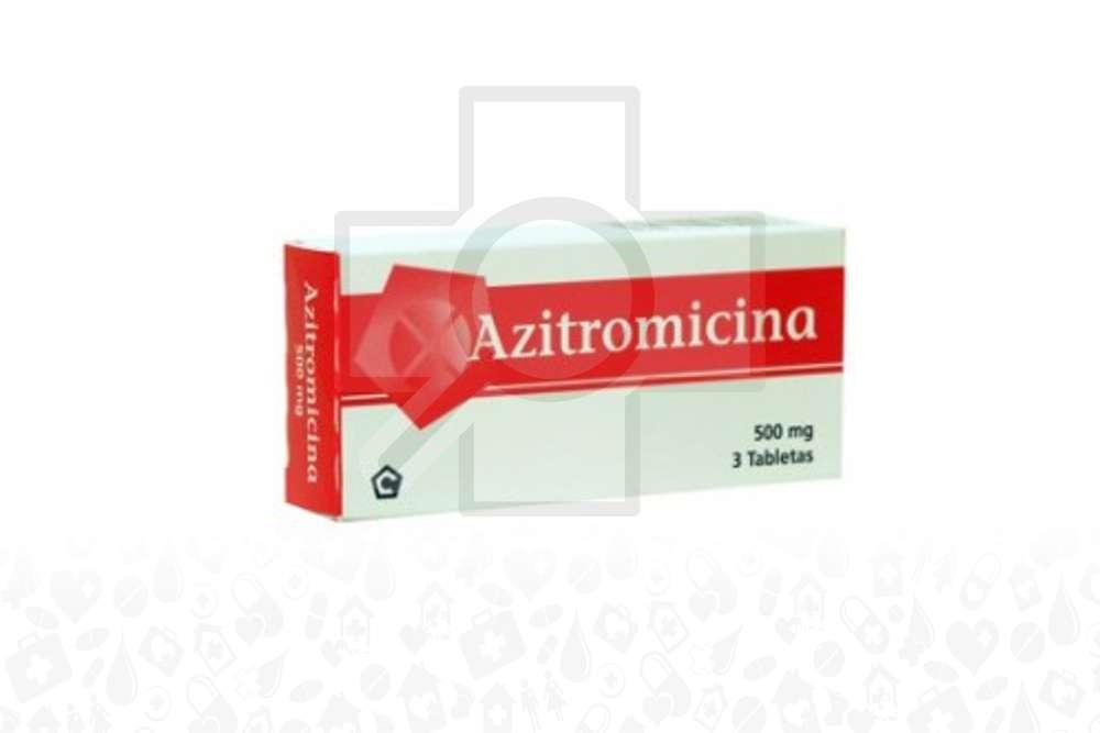 Azitromicina 500 mg Caja Con 3 Tabletas Orales Rx2