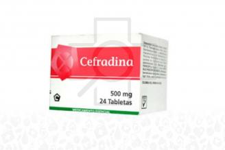 Cefradina 500 mg Caja Con 24 Tabletas Rx2