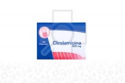 Clindamicina 300 mg  Caja x 24 Cápsulas RX