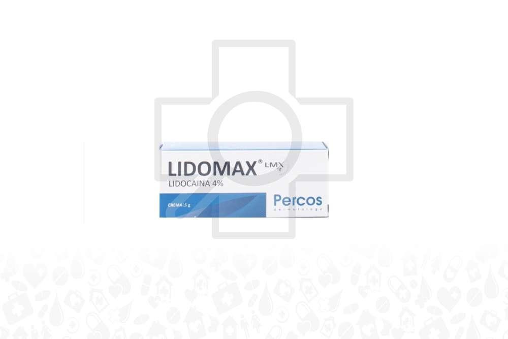 Lidomax 4% Crema Caja Con Tubo Con 15 g Rx