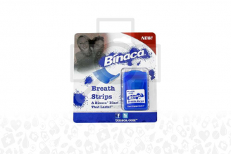 Enjuague Bucal Binaca Breath Strips Empaque Con 24 Unidades