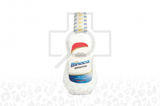 Enjuague Bucal Binaca Whitening Frasco Con 473 mL