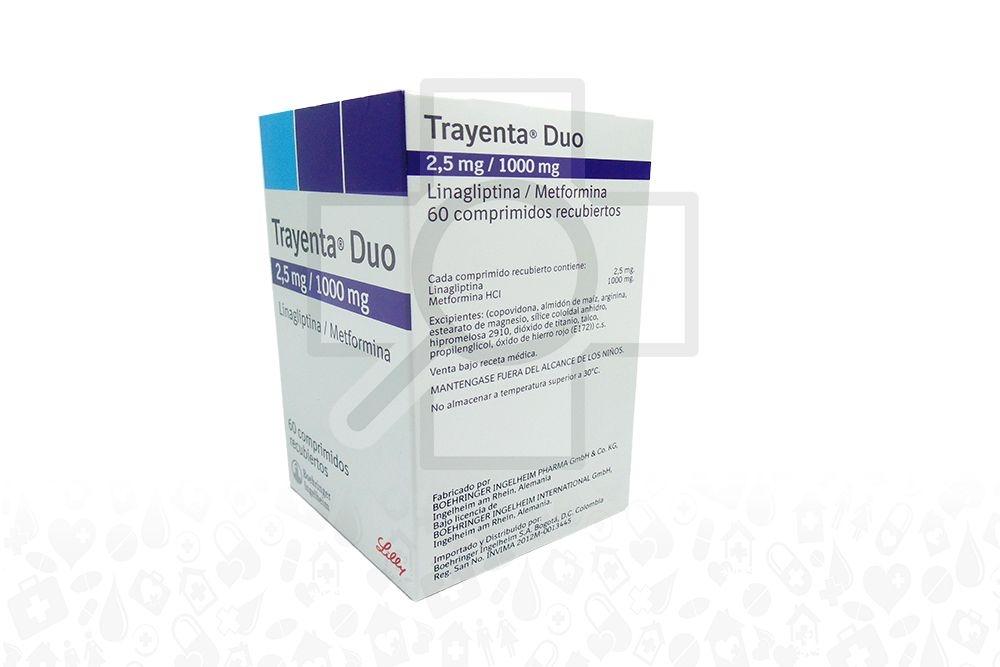 Comprar Trayenta Duo 2.5 / 1000 mg 60 Comprimidos En