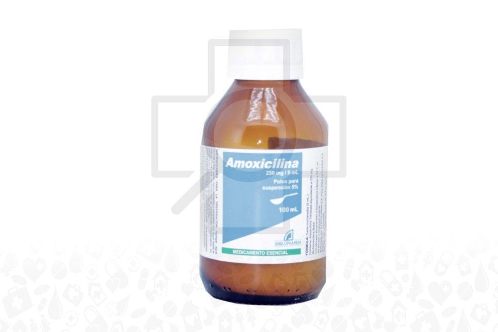 Amoxicilina 250 mg / 5 mL Frasco Con 100 mL Suspensión Rx2