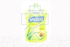 Crema Para Peinar Savital Profunda Hidratación Aguacate Frasco Con 95 mL