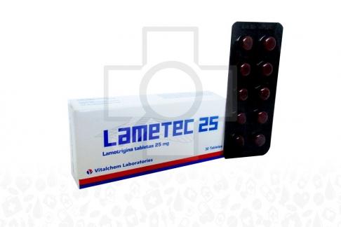 Lametec 25 mg Caja x 30 Tabletas Rx4