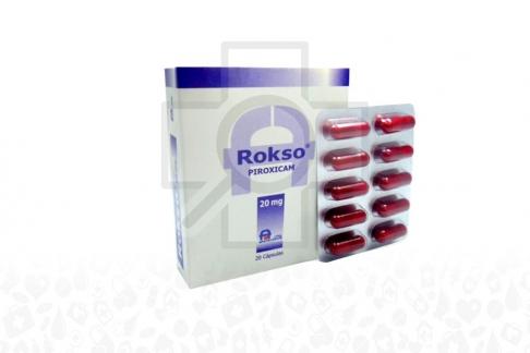 Rokso 20 mg Caja x 20 Cápsulas - Antiinflamatorio / Antirreumatico